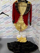 Sexy Pirate Captain 3 Piece Outfit Skirt, Velvet Feel Jacket & Bustierre Size M