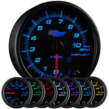 "3 3/4"" GlowShift Black 7 Color Series In Dash Tachometer Tach Gauge 0-10,000 RPM"