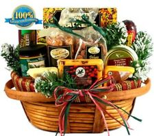 Christmas Basket Of Goodies Cheese Nuts Gift For Mom Dad Her Him holiday Ideas