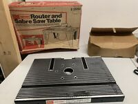 Vintage Sears Craftsman 25444 Router And Sabre Saw Table NOS