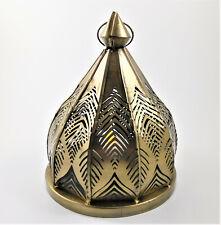 Pierced Brass Filagree Lamp Decor Candle T-Lite Lantern Moroccan Arabic Style