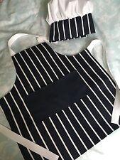 Grembiule Personalizzato Per Bambini & corrispondenza Cappello da Chef-macellai a righe