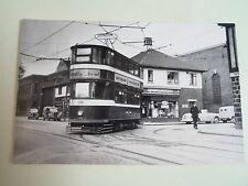 G44 Vintage Photo  Leeds Tram + Shop Fronts + Vehicles 1956 Leeds City Transport