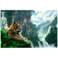 5D DIY Diamond Painting Diamond Tiger Full Diamond Embroidery Home Decorati O6D4