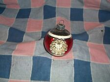 ksm. Vintage Christmas Ornament Shiny Brite Double Indent  2 1/2 In High w/Loop