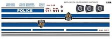 MIDDLESEX TOWNSHIP PA. Police Cruiser 1/64th Scale WATERSLIDE DECALS