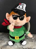 """Gemmy Animated Rapping Notorious Elf Singing Dancing Plush Elf Christmas 10"""""""