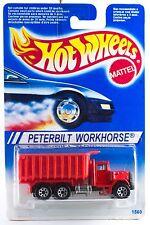 Hot Wheels Peterbilt Workhorse Dump Truck International Blue Card Mint 1995