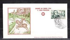 Amt/  Tunisie  enveloppe   1er jour  journée du timbre  1956