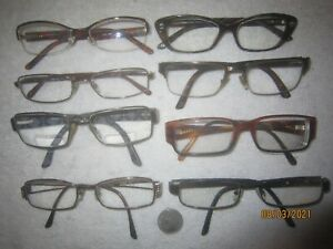 Lot of 8 Versace Eyeglasses MENS WOMENS Crystals BIG WIDE SEXY Vintage Hollywood