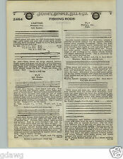 1924 PAPER AD Montague City Radio Split Bamboo Fishing Rod South Bend Steel Cane