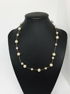 Faux Pearl on Wire Necklace