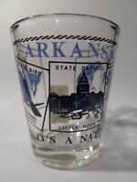 ARKANSAS SCENERY BLUE SHOT GLASS SHOTGLASS