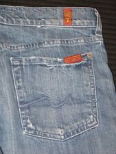 7 For All Mankind Jeans Roxanne Slim Straight Distressed USA Made Sz 29