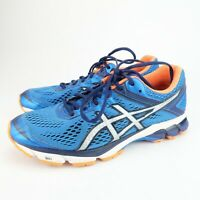 Asics GT-1000 4 Mens Running Shoes Electric Blue Silver Flash Orange Size 8