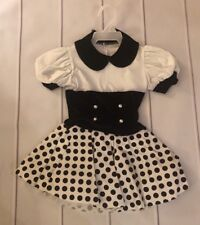 art stone dance costume Black/white Girls Size Small Style#D059