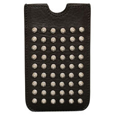 Brand New Burberry Brit Rhythm Mores Studded iPhone Sleeve Case in Black/Silver