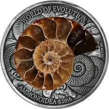 Burkina Faso 2016 1000 Francs World of Evolution - Ammonite 1oz Silver Coin