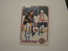 RAY BOURQUE SIGNED AUTOGRAPHED 1981 O-PEE-CHEE OPC SUPER ACTION CARD BRUINS HOF