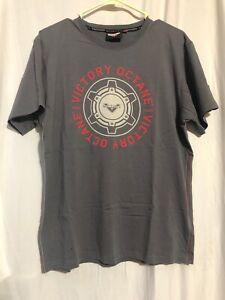 Victory Motorcycle Men's Grey Tee Shirt Medium Modern American Muscle