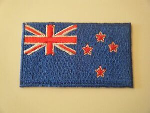 NEW ZEALAND PATCH Embroidered Iron On Badge National Flag Kiwi All Blacks NEW