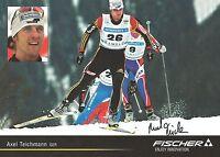 Autogramm AK Axel Teichmann Ski Langlauf Olympia 2010 Silber 2014 Sotschi Fisch