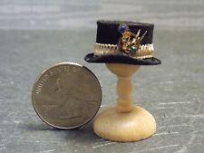 Dollhouse Miniature Steampunk Men's Riding Hat E Top Hat Gears 1:12 F23