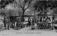 CPA 95 FRANCONVILLE LA PLACE DE LA MAIRIE LE MARCHE (cpa émaillée