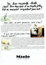 PUBLICITE ADVERTISING 027  1981   lave vaisselle Miele  adoucisseur