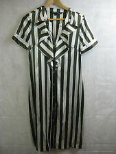Charlie Brown Size 8 10 Silk Striped Designer Dress