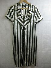 Charlie Brown Size 8 10 Silk Striped Designer Dress