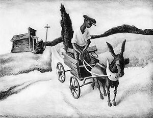 Thomas Benton Vintage Authentic Print  - Lonesome Road - WPA Art 1939
