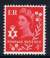 GB QEII Northern Ireland SG NI9 Brt Vermilion CB. Regional Wilding Definitive.