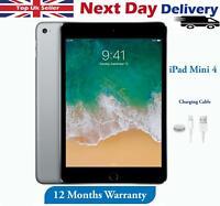 "Apple iPad Mini 4  16GB/32GB/64GB/128GB 7.9"" Wifi + 4G Cellular Grey All Grade"