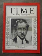 Vintage Time Magazine August 6, 1928  King of Belgians & Blackamoors cover