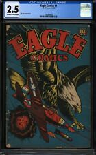 EAGLE COMICS #1 (2-3/45) L.B. COLE WWII COVER CGC 2.5 CREAM TO OFF-WHITE PAGES