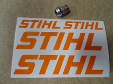 4 x STIHL STICKERS SET - CHAINSAW COMBI VAN WORKSHOP Logo Style (ORANGE)