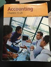 Accounting 24th Edition, Warren, Reeve & Duchac with Cd- Paperback Textbook