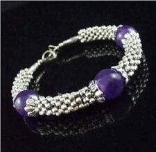 Beautiful Jewelry Tibet Silver purple  bead Bracelets free shipping