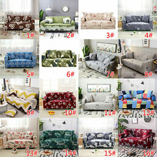 1-4 Seater Elastic Sofa Covers Slipcover Stretch Floral Couch Protect Slip Cover