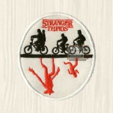 Stranger Things Upside Down Patch TV Series Dustin Mike Bikes Eleven Embroidered