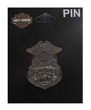 Harley-Davidson® Bar & Shield #1 Police Badge 3-D Nickel Die Cast Pin P1263063
