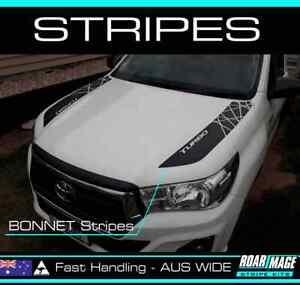 2015-2022 TOYOTA Hilux Bonnet STRIPES decals sticker 4wd 4x4 not door SR5 ROGUE