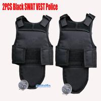 "1Pair 1/6 Scale Bulletproof Vest SWAT Vest in Black Model for 12"" Action Figures"