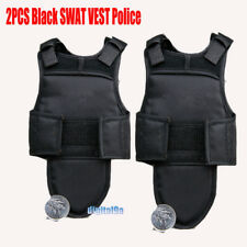 "1Pair 1/6 Scale Bulletproof Vest SWAT Vest in Black Model for 12"" Action Figures"