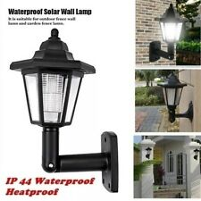 Solar Power LED Light Path Way Wall Landscape Mount Garden Fence Lamp IP44