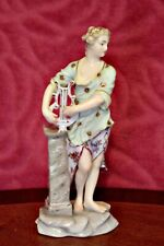 Antique Rare German Porcelain Lady Figurine, 19th Century