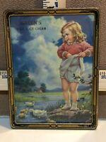 Vintage Green's Milk & Ice Cream Advertising Picture