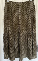 LAURA ASHLEY Linen Mix  Maxi Skirt Floaty Size UK 16 Vintage Patten