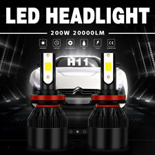 2X H11/H9/H8 200W 20000LM LED Headlight Conversion Kit Beam Bulb 6000K White JBP